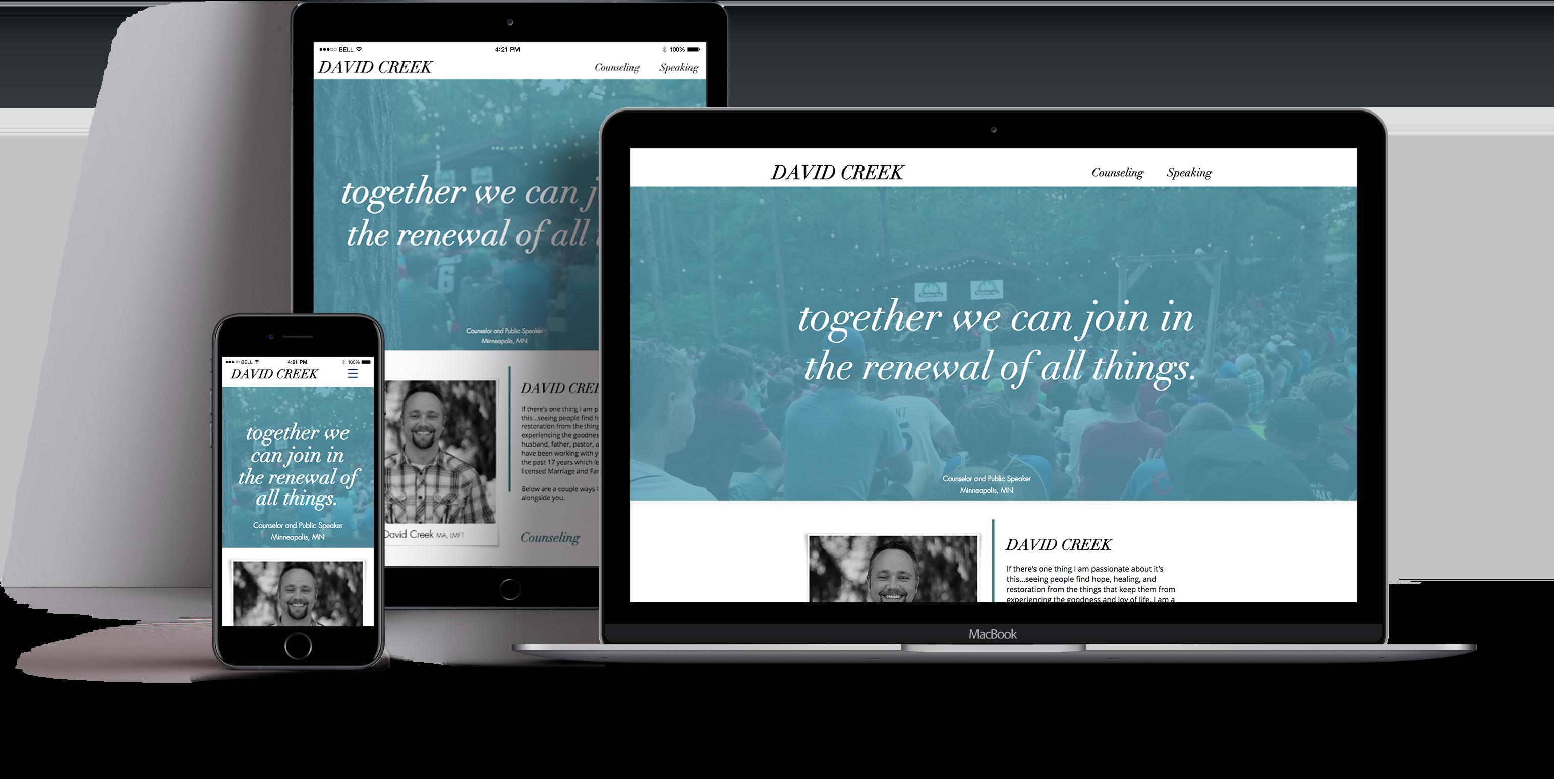 David Creek Wix Website