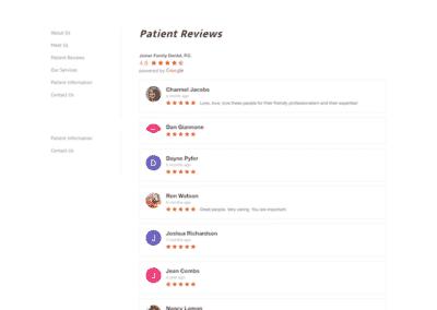 Joiner Family Dental Reviews