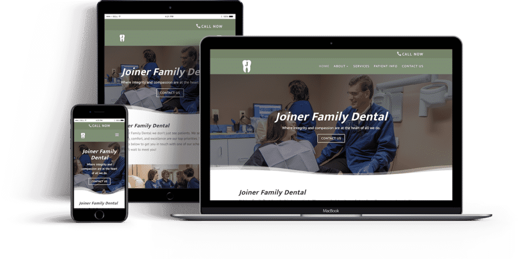 Joiner Family Dental's Website Featured Image