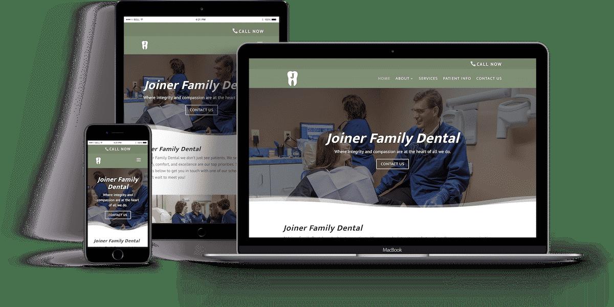 Joiner Family Dental Website